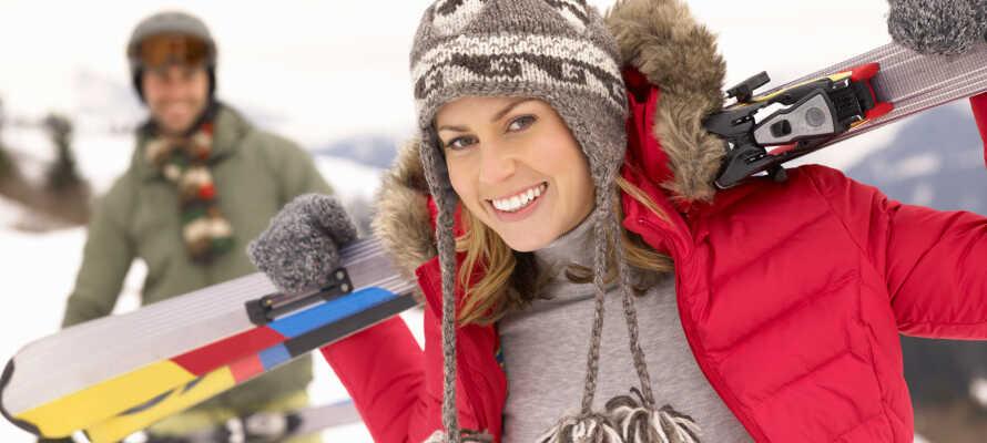 Geilo er et af Norges mest populære skiområder, og fra hotellet har I blot nogle få hundrede meter til liftene.