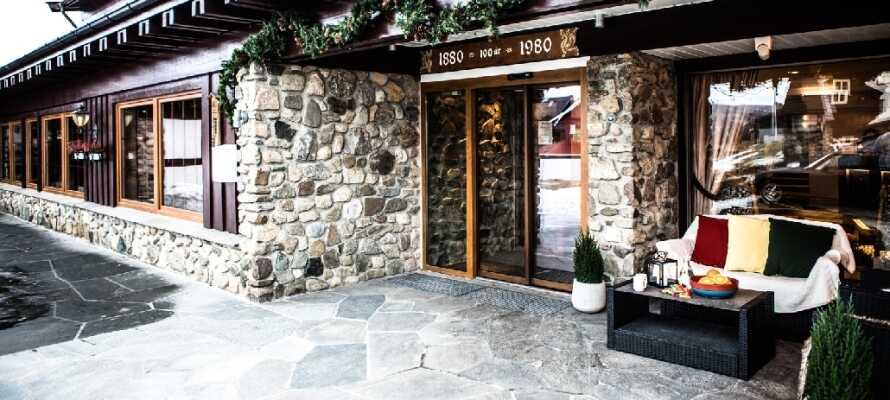 Geilo Hotel har ett fantastiskt läge nära skidbackar och vandringsleder.