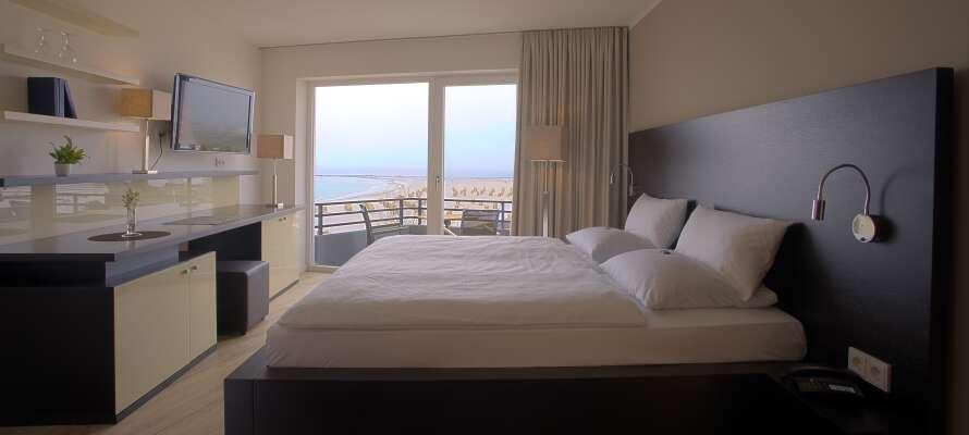 De flotte og rummelige værelser tilbyder moderne faciliteter og et 4-stjernet komfortniveau