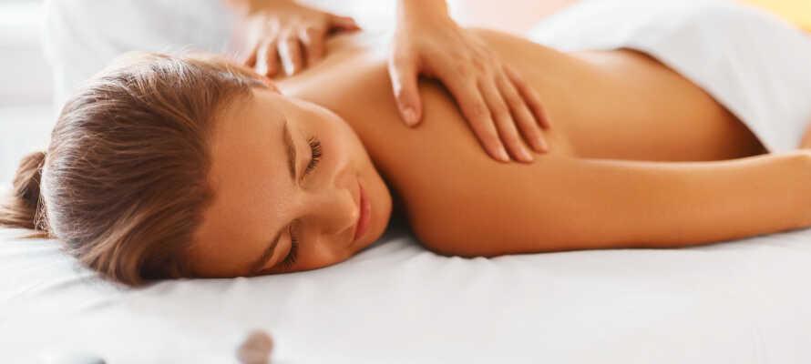 Her er der lagt op til et skønt ophold med selvforkælelse og velvære i hotellets store flotte wellnessområde.