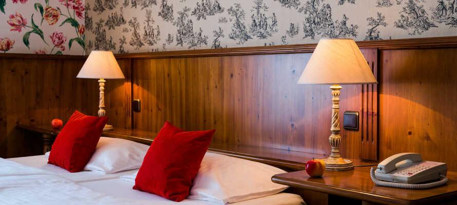 De nydelige Classic dobbeltværelser er karakteriseret ved deres traditionelle charme og hyggelige atmosfære.