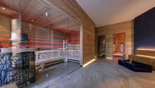 Die Wellnessabteilung bietet sowohl Sauna als auch einen Entspannungsbereich