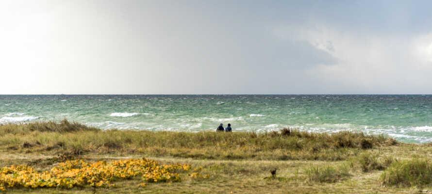 Ön Fehmarn ligger inte långt från hotellet och det är under en timme med bil till Lübeck
