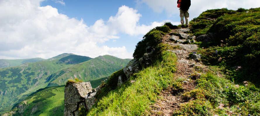 Området passer utmerket for en aktiv ferie til fots eller på sykkel i sommerhalvåret. I vinterhalvåret dekkes lamdskapet av snø og skientusiastene gjør sin entre.