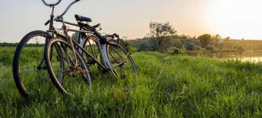 Leihen Sie sich im Hotel ein Fahrrad aus und erkunden Sie damit die Insel.