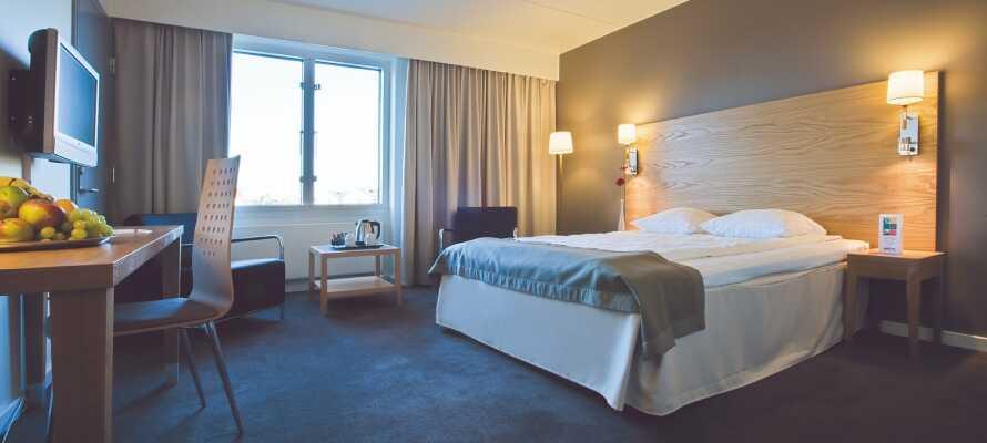 Hotellets moderna och trevliga rum är en perfekt bas för ert besök i Köpenhamn.