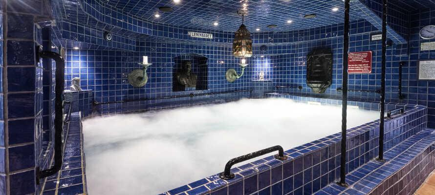 Erleben Sie das berühmte Hotel-Spa Leninbadet, das von Lenins Lieblingsbad in Sankt Petersburg inspiriert wurde. Das Spa bietet warme und kalte Bäder, ein Dampfbad, Fußbäder und Wellness-Behandlungen.