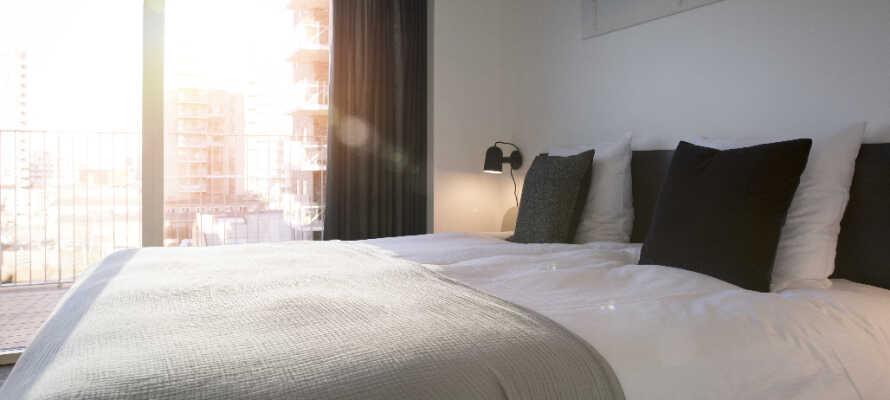 Die tollen Superior-Zimmer befinden sich ganz oben im Gebäude und sind mit einem Balkon ausgestattet, von denen man eine atemberaubende Aussicht auf den Öresund hat.