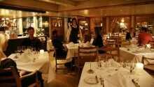 Vacker inredning på hotellets restauranger