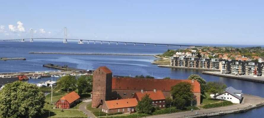 Besøg resterne af Korsør slot som blev bygget helt tilbage i 1300-tallet.