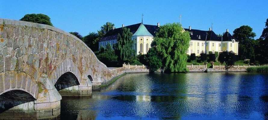 Tag med ressällskapet till Korsør Slott som härstammar från 1300-talet.