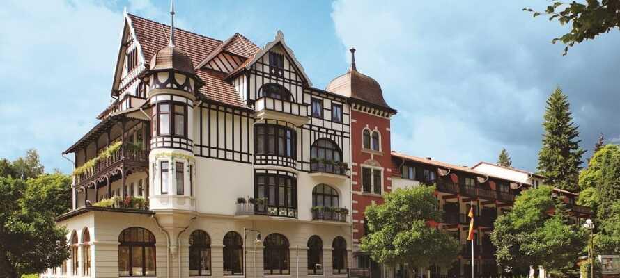 Boka ett prisvärt hotellpaket på det 4-stjärniga Göbel's Vital Hotel i vackra Harz.