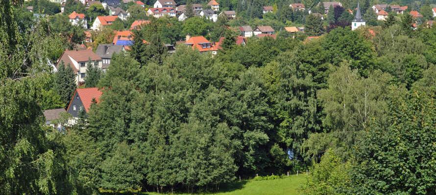 Hotellet ligger i den charmerende by, Bad Sachsa, omgivet af Harzens herlige naturomgivelser med bjerge, dale og skove.
