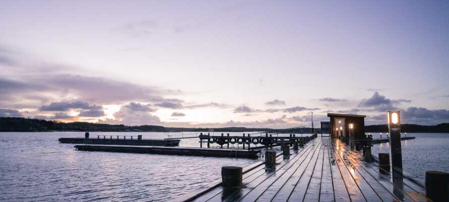 Der er lagt op til romantik og hygge med et dejligt wellnesophold på den svenske vestkyst