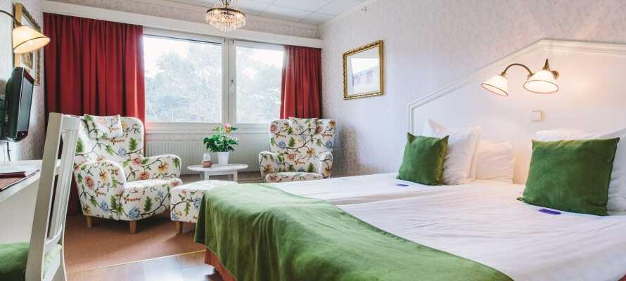 På Säröhus Hotell, Konferanse og Spa tilbys dere rom i en rolig og avslappende atmosfære.