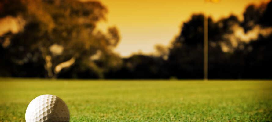 Er det interesse for golf Särö Golf Klubb og Kungsbacka Gold Klubb rett ved hotellet.