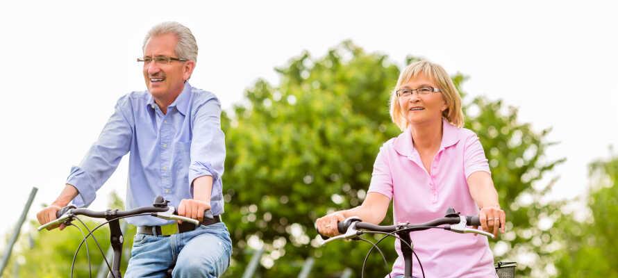Ni kan hyra cyklar på hotellet och bege er ut i de vackra omgivningarna.
