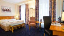 Et eksempel på et af hotellets komfortable dobbeltværelser.