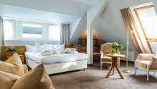 Et eksempel på et af hotellets ekstra komfortable Superior dobbeltværelser.