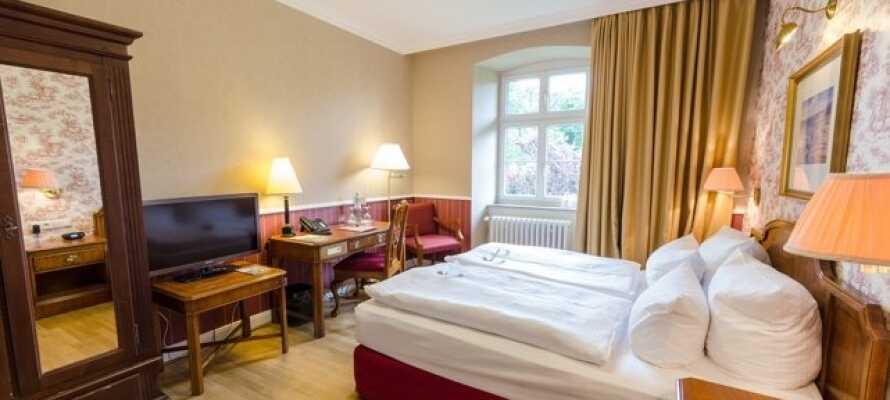 Hotellet erbjuder inkvartering i bekväma dubbelrum i tre olika kategorier.