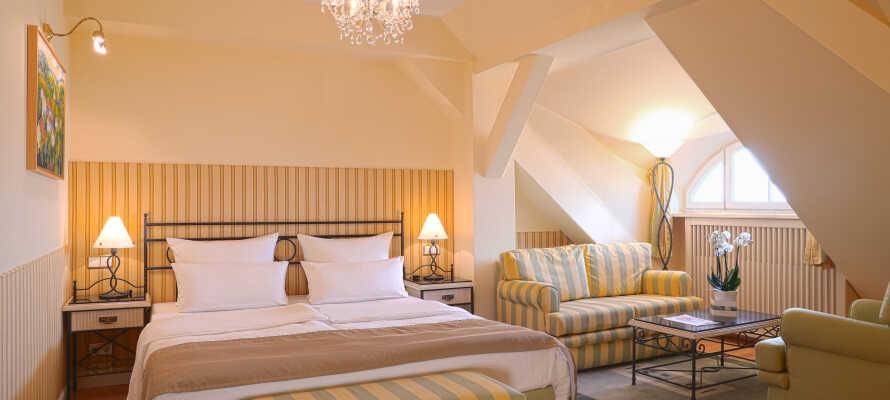 Et af de elegante og moderne dobbeltværelser.