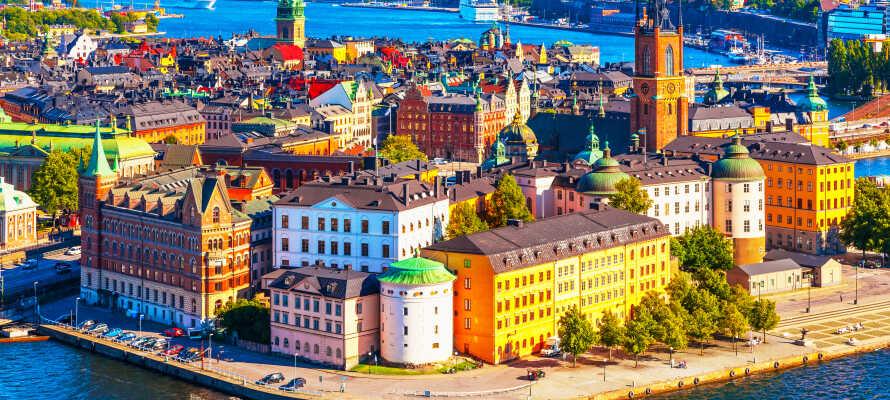 Overkommelig indkvartering med rolig og behagelig beliggenhed i det centrale Stockholm.