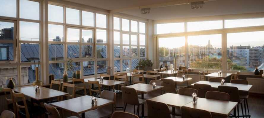 Im Restaurant des Hotels können Sie mit einem guten Frühstück in den Tag starten.