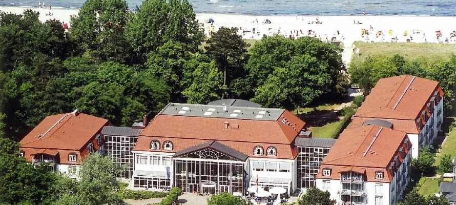 Seehotel Boltenhagen ligger ved den herlige stranden.
