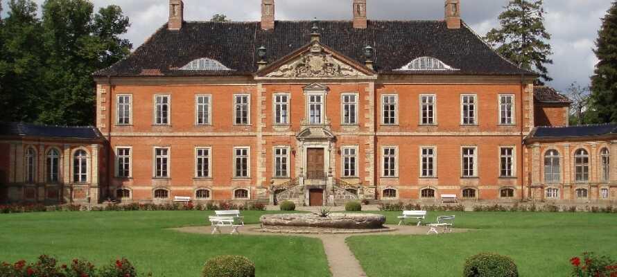 Ikke langt fra hotellet ligger det vakre Schloss Bothmer, som er det største av sitt slag i Mecklenburg-Vorpommern.