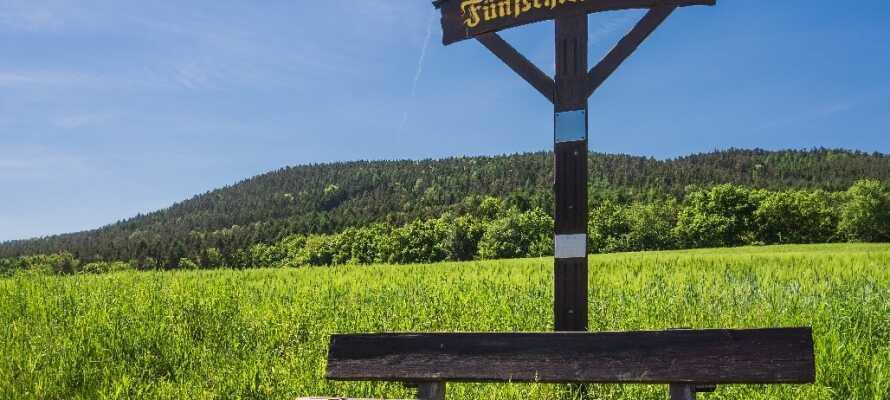 Genießen Sie einen schönen Spaziergang auf gut markierten Wanderwege im Thüringer Wald.