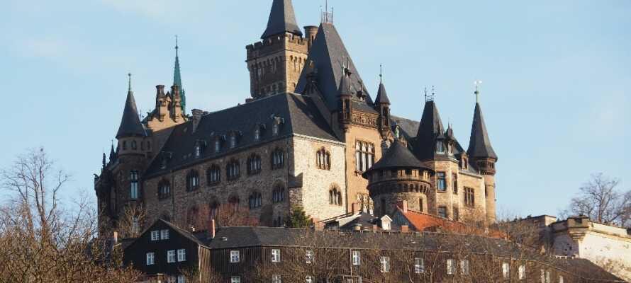 Tag en tur til Wernigerode, hvor I kan slentre igennem de hyggelige gader og besøge slottet, der troner over byen.