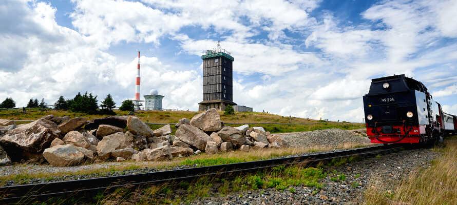 Bo nær populære Schierke. Om sommeren er det turer til fots eller på sykkel som gjelder, og ski om vinteren.