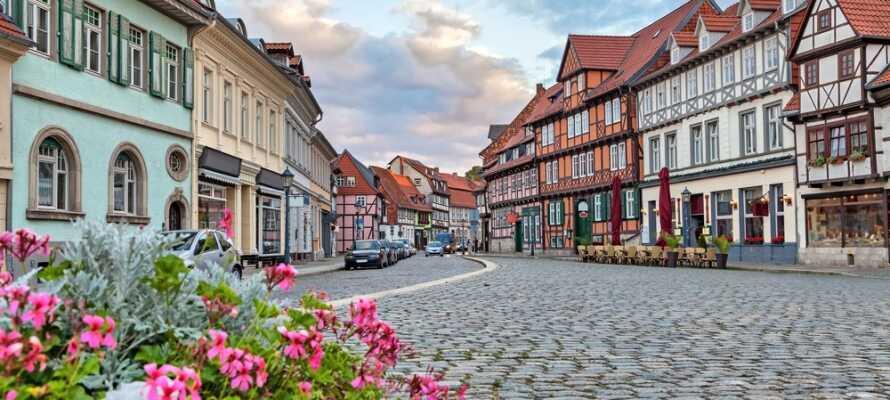 Machen Sie einen Familienausflug in den Harz und besuchen zum Beispiel. die schöne UNESCO-Stadt Quedlinburg.