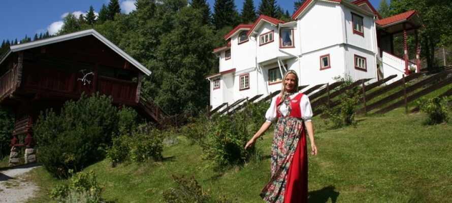 Nabodalen i øst, Sigdal, er kjent som Kunstnerdalen med samlinger fra Christian Skredsvig og Theodor Kittelsen