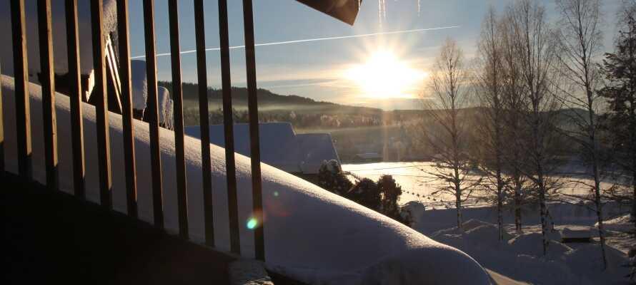 Her kan dere nyte en deilig ferie med god mat og wellness, omgitt av det vakre vinterlandskapet i Norge!