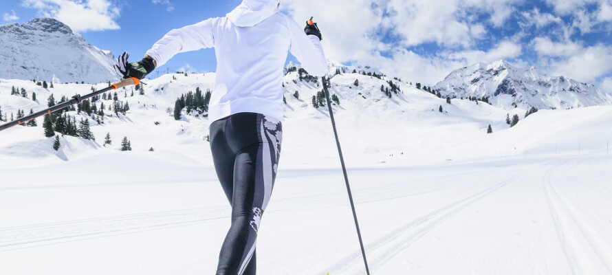 Erleben Sie einen herrlichen Winterurlaub in unmittelbarer Nähe zu Skipisten und Langlaufloipen.