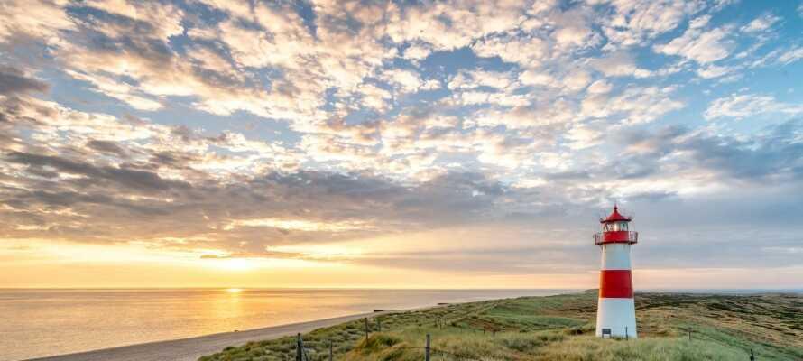 Øyen, Sylt, har mer enn 40 km strand. Dessuten finner dere mange aktiviteter her.