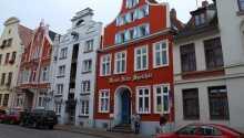 Hotellet ligger skønt i Wismars gamle UNESCO-listede bydel