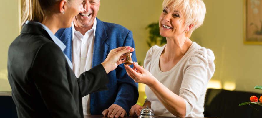 Det hyggelige og moderne hotel har stor fokus på den gode og venlige personlige service.