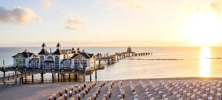 Utforsk ferieparadiset Rügen. Opplev sagnomsuste badestrender langs hvite fjellvegger og sjarmerende kystlandsbyer med flere anerkjente restauranter.