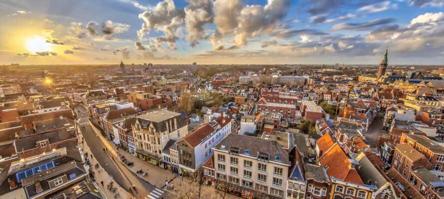 Apollo Hotel Groningen har en rolig beliggenhet rett overfor Stadsparken i kort avstand fra sentrum.