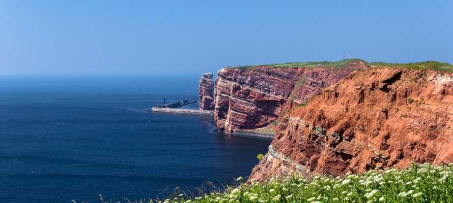 Fra Büsum kan I sejle til den skønne ø Helgoland, der er et meget populært turistområde.