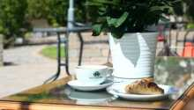 Hotellet har sin egen have, hvor I kan nyde selskabet af en god bog og en kop kaffe.