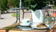 Im hoteleigenen Garten können Sie frischen Kaffee genießen.