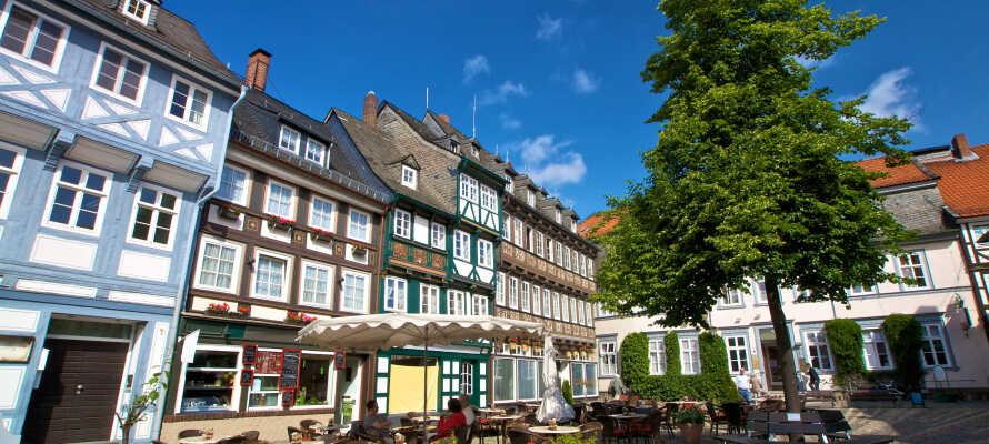 Gamlebyen i Goslar er et verdensarvsted. Besøk middelalderbyen og spis lunsj i denne vakre perlen av en hansaby.