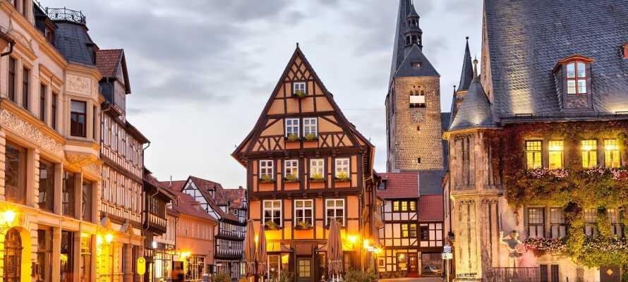 Besök den fantastiska medeltidsstaden Quedlinburg som inte utan anledning finns med på UNESCOs världsarvslista.