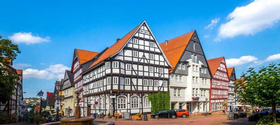 Bad Wildungen er en av Tysklands viktigste kurbyer og kan by på sjarmerende bindingsverksidyll og historiske opplevelser