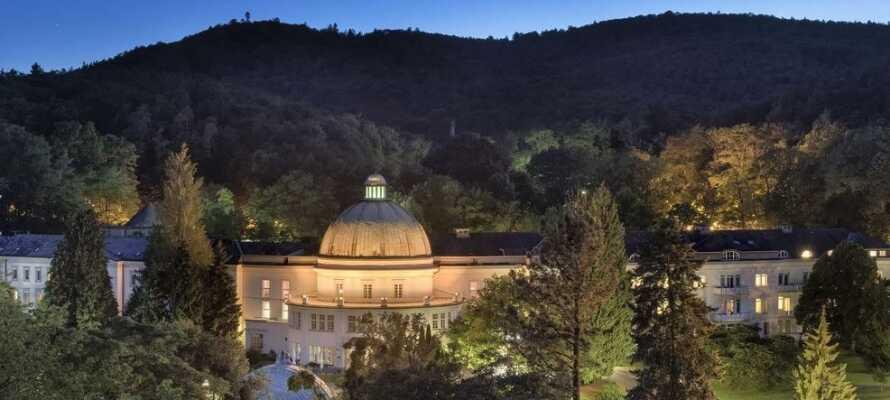 Hotellet ligger i maleriske omgivelser, blant flotte hager og rett ved Europas største kurpark i Bad Wildungen