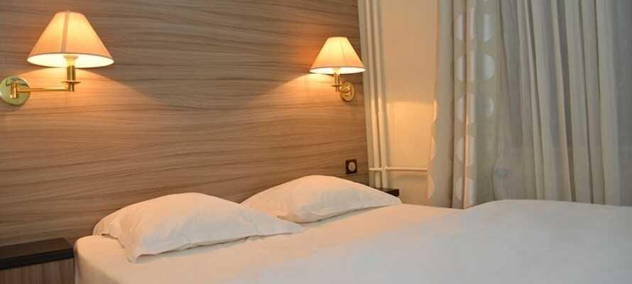 De pæne værelser sørger for, at I har en god og behagelig base for Jeres ophold i Alsace.