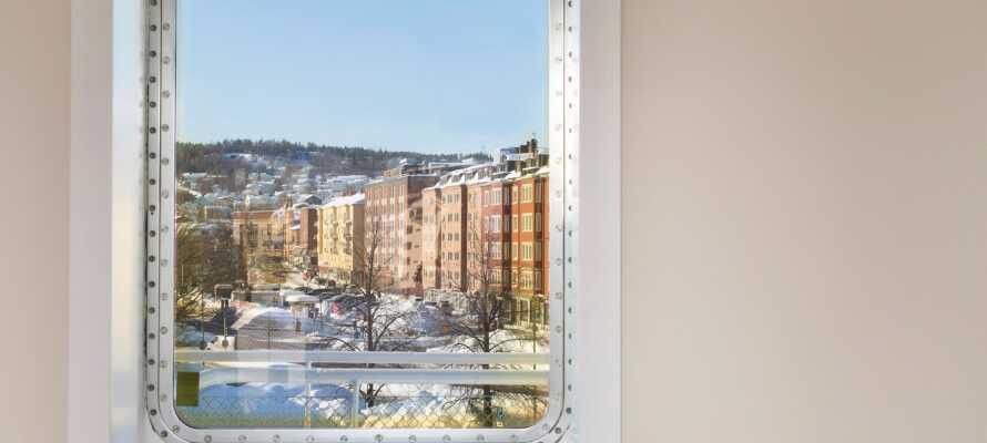 Fra værelserne har I udsigt til centrum af Sundsvall, med et væld af oplevelser lige rundt om hjørnet